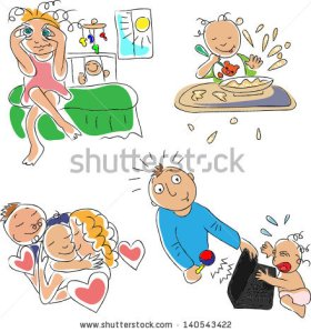 stock-vector-joys-of-parenthood-140543422